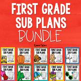 1st Grade Sub Plans Bundle