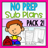 First Grade Emergency Sub Plans Pack 2!