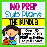 First Grade Emergency Sub Plans-The Bundle!