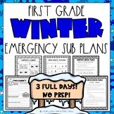 Emergency Sub Plans | First Grade | Winter