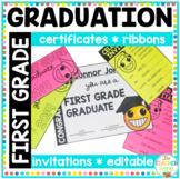 First Grade Emoji Graduation Certificates, Invitations & Ribbons
