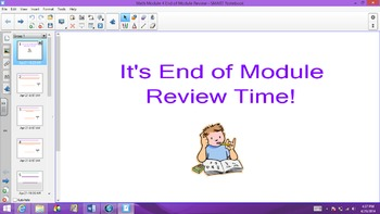 1st Grade Common Core Math End of Module 4 Review for Test