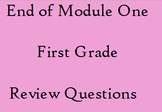 First Grade End of Modulle 1 Review Test