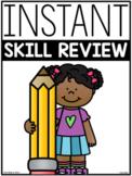 First Grade End of Year ELA & Math Skill Review Sheets