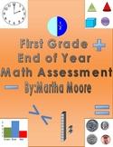 Math Assessment First Grade End of Year