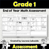First Grade End of Year - Maths Assessment **BEST SELLER**