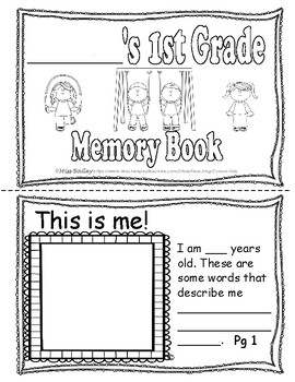 First Grade End-of-Year Memory Book