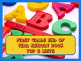 First Grade End of Year Memory Book of Top 5 Lists - PRINT and GO!