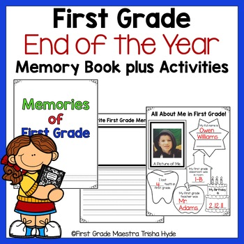 #countdowntosummer First Grade End of Year Activities and Memory Journal