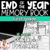 End of Year Memory Book First Grade