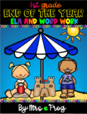 First Grade End of the Year ELA Review and Word Work Bundle