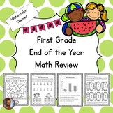 First Grade End of the Year Math Review