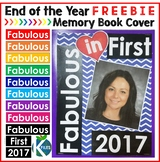 First Grade End of the Year Memory Book Cover Freebie