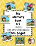 K-5 Memory Book