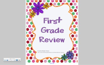 First Grade End of the Year Review Smart Board, Common Core and SAT10 Aligned
