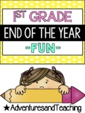 First Grade End of the Year Writing and Fun Pack