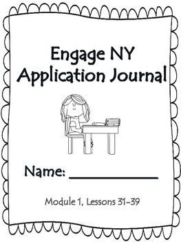 First Grade Engage NY Application Problem Journal Module 1 Lessons  31-39