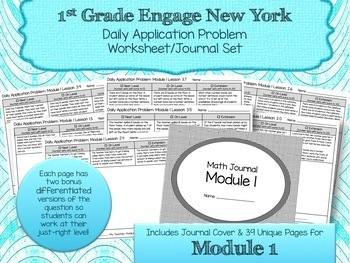 Engage NY New York Eureka Application Word Problems First Grade Module 1
