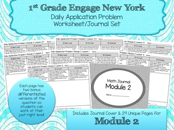 Engage NY New York Eureka Application Word Problems First Grade Module 2