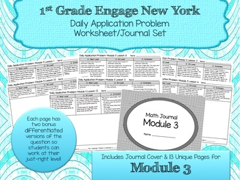 Engage NY New York Eureka Application Word Problems First Grade Module 3