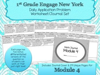 Engage NY New York Eureka Application Word Problems First Grade Module 4