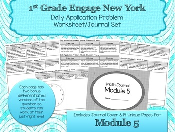 Engage NY New York Eureka Application Word Problems First Grade Module 5