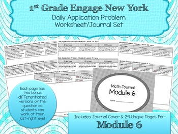 Engage NY New York Eureka Application Word Problems First Grade Module 6