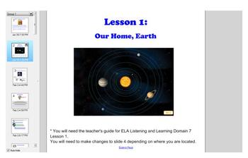 First Grade Engage NY ELA Domain 7 History of the Earth Lesson 1