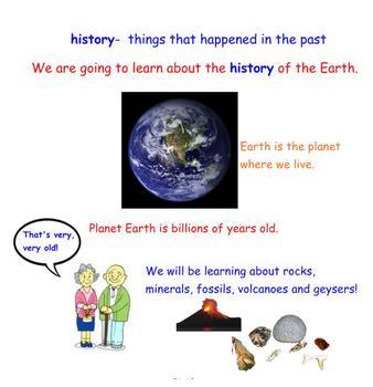 First Grade Engage NY ELA Domain 7 History of the Earth Lesson 1