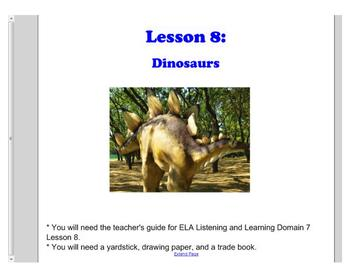 First Grade Engage NY ELA Domain 7 The History of the Earth Lesson 8