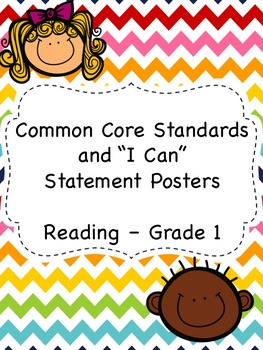 "First Grade English Language Arts Common Core and ""I Can"" Posters"