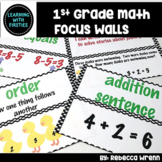 First Grade Envision Math Focus Walls for the Year
