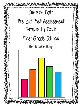 First Grade Envision Math Pre and Post Assessment Graphs