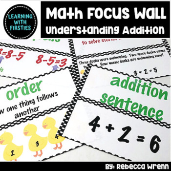 First Grade Envision Math Focus Wall Topic 1 Understanding Addition