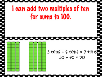 First Grade Envision Math  Topic 10 Adding With Tens and Ones Focus Wall