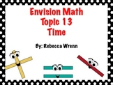 First Grade Envision Math Topic 13  Time  Focus Wall