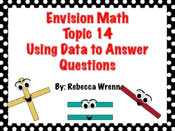 First Grade Envision Math  Topic 14 Using Data to Answer Questions Focus Wall