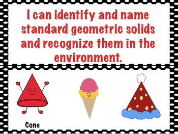 First Grade Envision Math  Topic 15 Geometry Focus Wall