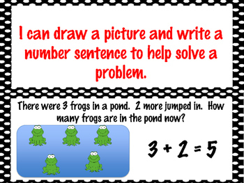 First Grade Envision Math Topic 4 Addition & Subtraction Facts to 12 Focus Wall