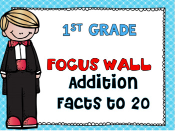 First Grade Envision Math Topic 5 Addition Facts to 20 Focus Wall
