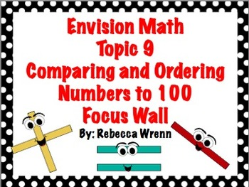 First Grade Envision Math Topic 9 Comparing & Ordering Numbers to 100 Focus Wall