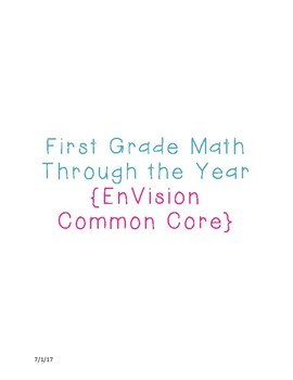 First Grade Envision Topic Guide