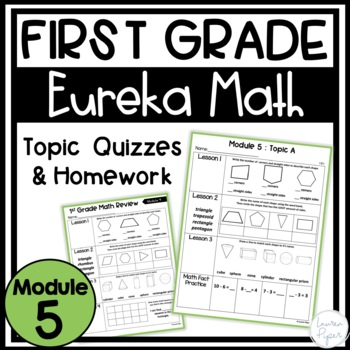 First Grade Eureka Math Engage NY Module 5: Homework, Review, and Topic Quiz