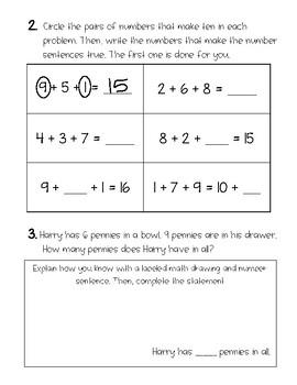 First Grade Eureka Math Mid-Module 2 Assessment