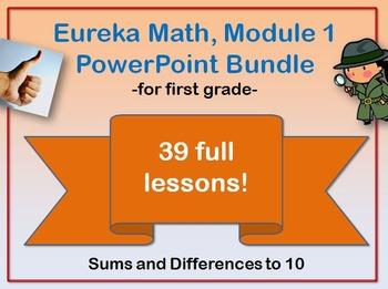 First Grade Eureka Math Module 1 PowerPoint Bundle (Addition/Subtraction)