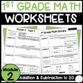 First Grade Eureka Math Module 2: Topic Quizzes and Homework