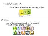 First Grade Eureka Math Starter Vocab