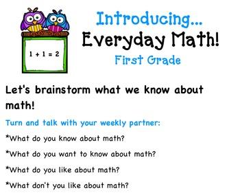 First Grade Everyday Math 4 SMART Notebook File