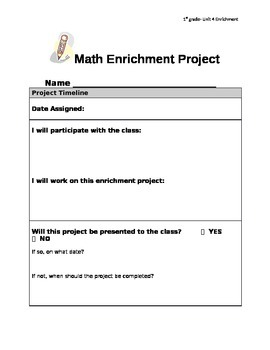 First Grade Everyday Math Compaction Packet - Unit 4 (Addi