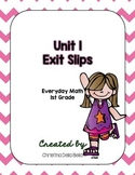 First Grade Everyday Math Unit 1 Exit Slips